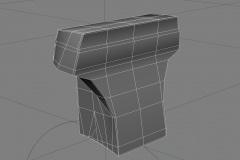 RepairingMotorbikeBatman_3dmodelling_FrontLowpolyWireframe