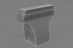 RepairingMotorbikeBatman_3dmodelling_FrontSubdividedWireframe